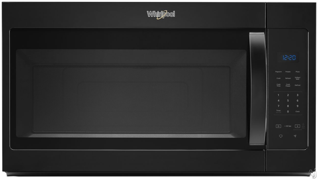 Whirlpool WMH31017HB 1.7 cu. ft. Over-the-Range Microwave with Microwave Presets, Adjustable Lighting, Dishwasher-Safe Turntable, Add 30 Seconds, 300 CFM and 1,000 Watts: Black