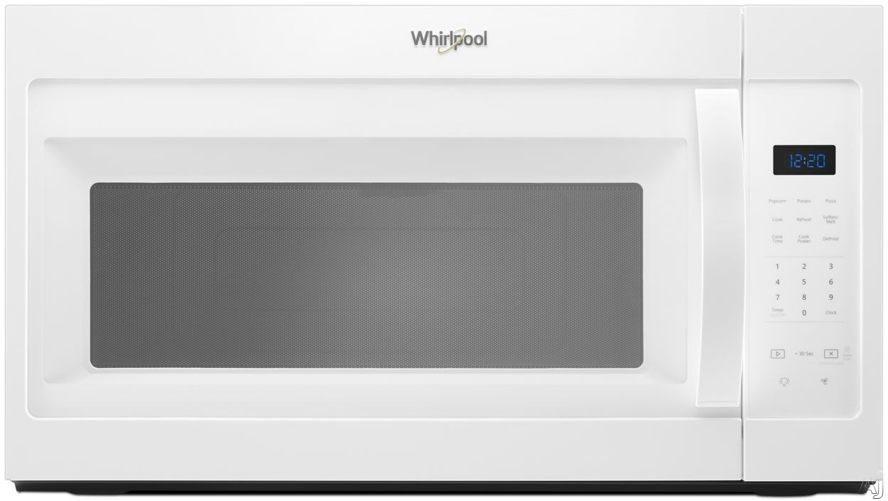 Whirlpool WMH31017HW 1.7 cu. ft. Over-the-Range Microwave with Microwave Presets, Adjustable Lighting, Dishwasher-Safe Turntable, Add 30 Seconds, 300 CFM and 1,000 Watts: White