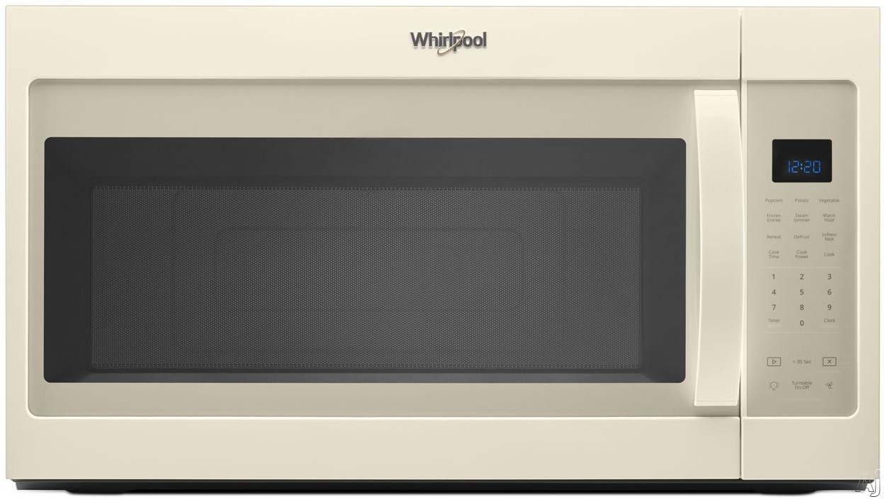 Whirlpool WMH32519HT 1.9 Over-the-Range Microwave with Sensor Cooking, Steam Cooking, CleanRelease® Interior, Microwave Presets, Add 30 Seconds, Cooking Rack and 300 CFM: Biscuit