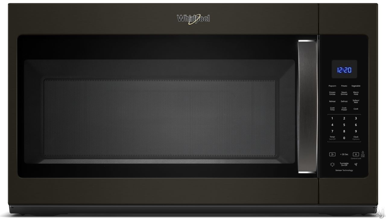 Whirlpool WMH32519HV 1.9 Over-the-Range Microwave with Sensor Cooking, Steam Cooking, CleanRelease® Interior, Microwave Presets, Add 30 Seconds, Cooking Rack and 300 CFM