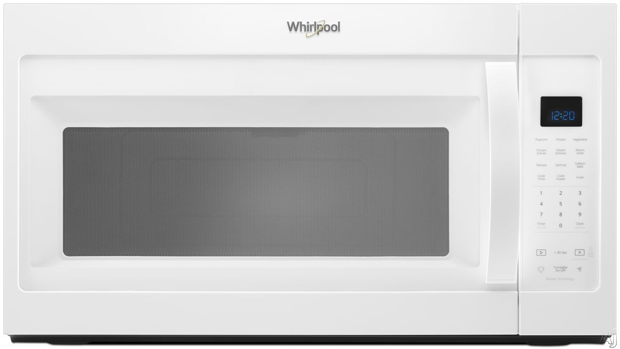 Whirlpool WMH32519HW 1.9 Over-the-Range Microwave with Sensor Cooking, Steam Cooking, CleanRelease® Interior, Microwave Presets, Add 30 Seconds, Cooking Rack and 300 CFM: White