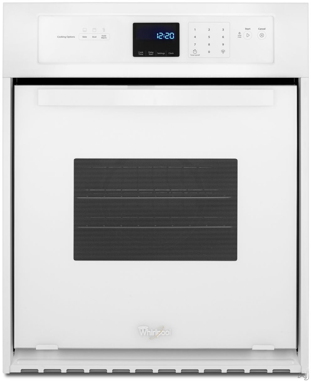 Whirlpool WOS11EM4EW 24 Inch Single Electric Wall Oven with 3.1 cu. ft. Capacity, 3600 Watt Broil Element, Dual Interior Lighting, Delay Cook Setting, Star-K Certified Sabbath Mode, ADA Compliant and Keep Warm Setting: White