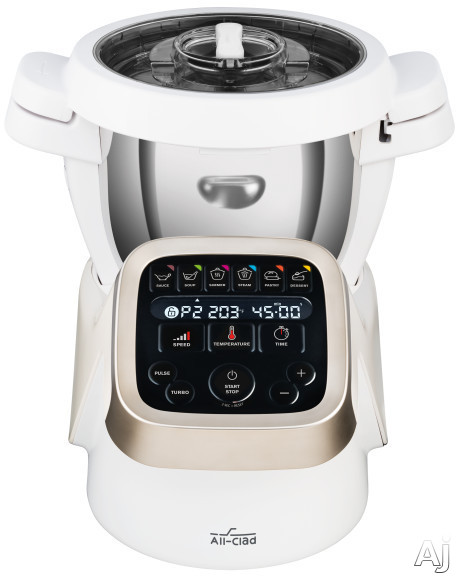 All Clad HP503152 Prep&Cook Cooking Food Processor with 6 Presets, 12 Speed Settings, Multi-Functional, Digital Control Panel, Stainless Steel Bowl and Lid and Accessories Included