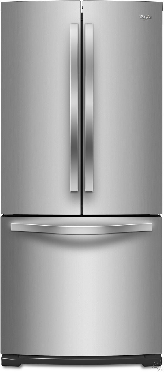 Whirlpool WRF560SMY 30 Inch French Door Refrigerator with 19.6 cu. ft. Capacity, Spillsaver Shelves, Humidity-Controlled Crispers, Temperature Controled Pantry, FreshFlow Produce Preserver, FreshFlow Air Filter, Ice Maker and Energy Star Rated WRF560SMY