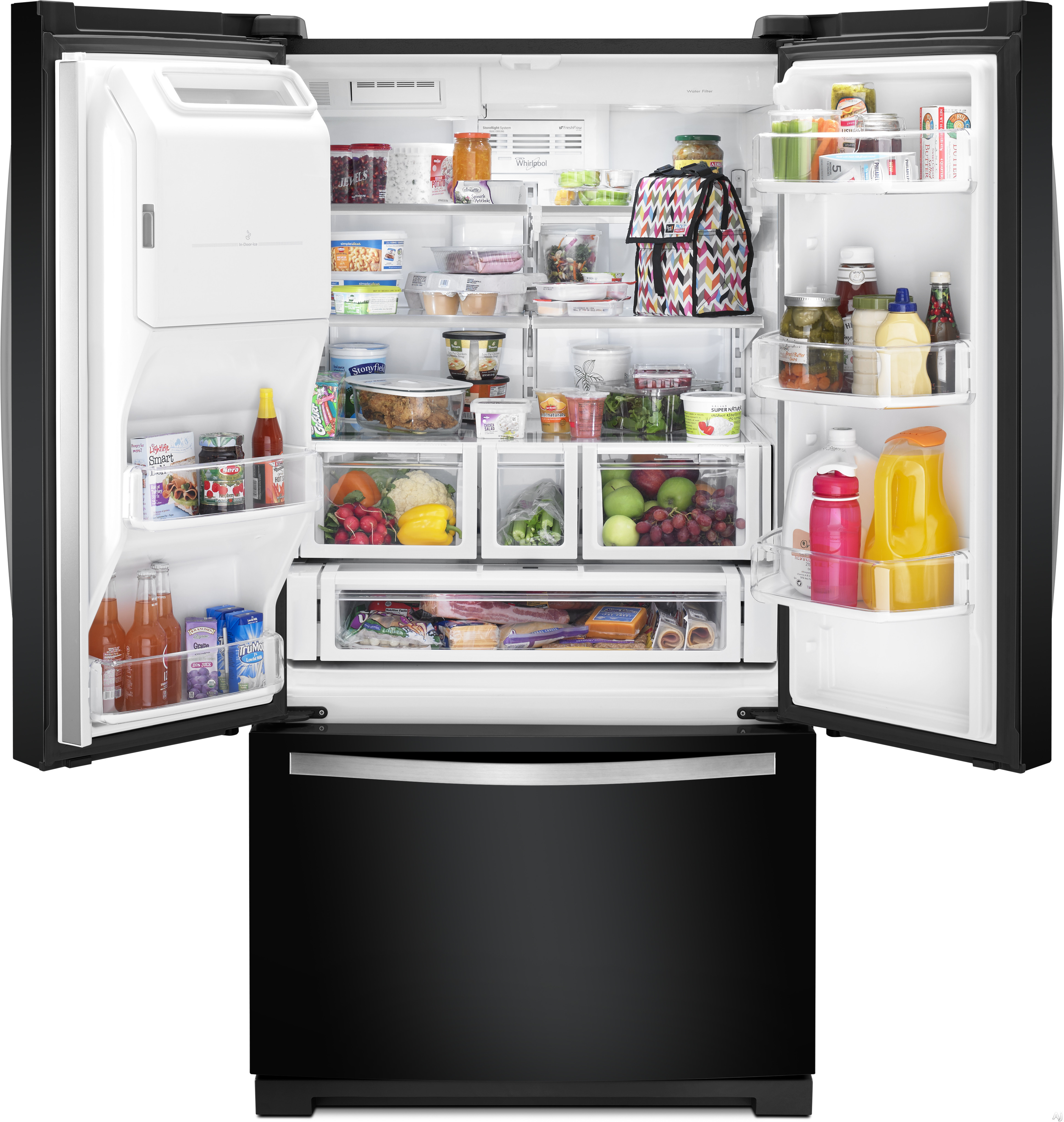 #B39318 Whirlpool WRF757SDEE 26.8 Cu. Ft. French Door Refrigerator  Most Effective 11255 Brandsmart Air Conditioners pictures with 3873x4083 px on helpvideos.info - Air Conditioners, Air Coolers and more