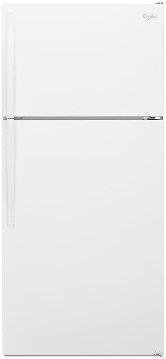 Whirlpool WRT134TFDW 28 Inch Top-Freezer Refrigerator with ENERGY STAR Certification, Quiet Cooling, Optional Ice Maker, Adjustable Wire Shelving, 2 Produce Drawers, Dairy Bin, 3 Door Bins, ADA Compliant and 14.3 cu. ft. Capacity: White