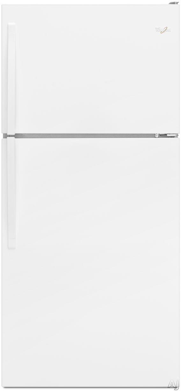 Whirlpool WRT138FZDW 30 Inch Top-Freezer Refrigerator with 18.2 cu. ft. Capacity, 2 Adjustable Wire Shelves, Gallon Door Storage, 2 Crisper Drawers, 1 Flexi-Slide Drawer, ADA Compliant, Energy Star Rated, Optional Ice Maker Kit: White
