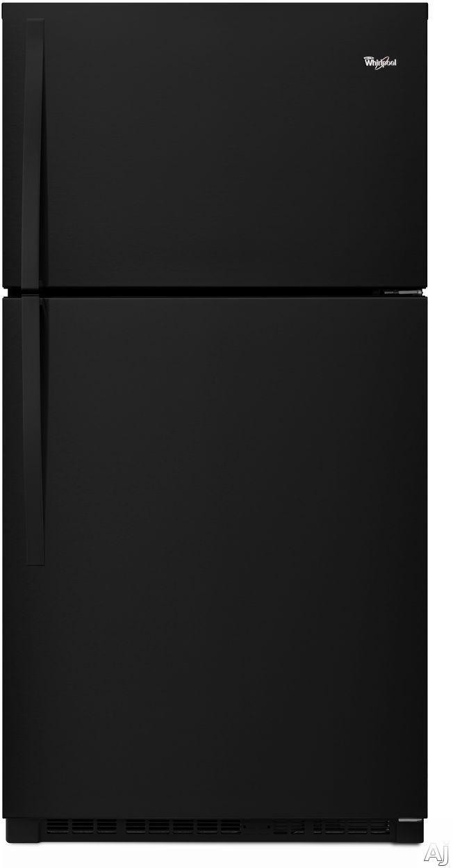 Whirlpool WRT541SZDB 33 Inch Top-Freezer Refrigerator with Flexi-Slide Bin, ENERGY STAR, Optional Ice Maker, Humidity Controlled Crisper Drawers, Gallon Door Storage, LED Interior Lighting, ADA Compliant and 21.3 cu. ft. Capacity: Black