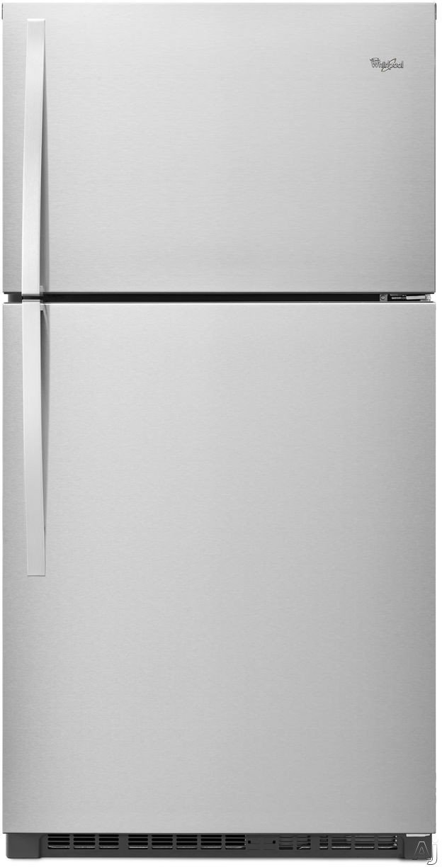 Whirlpool WRT541SZD 33 Inch Top-Freezer Refrigerator with Flexi-Slide Bin, ENERGY STAR, Optional Ice Maker, Humidity Controlled Crisper Drawers, Gallon Door Storage, LED Interior Lighting, ADA Compliant and 21.3 cu. ft. Capacity