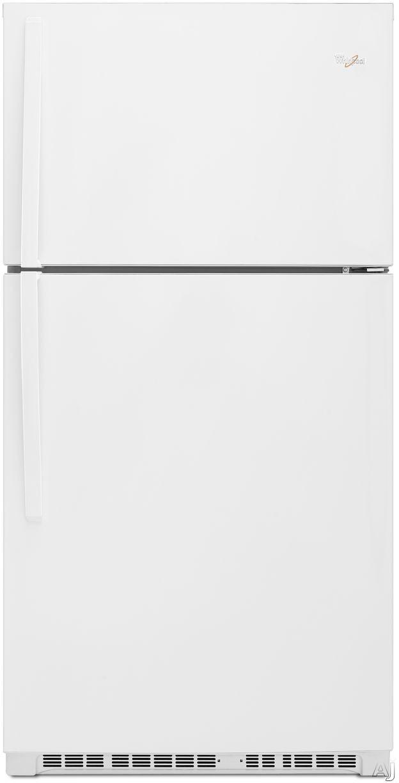 Whirlpool WRT541SZDW 33 Inch Top-Freezer Refrigerator with Flexi-Slide Bin, ENERGY STAR, Optional Ice Maker, Humidity Controlled Crisper Drawers, Gallon Door Storage, LED Interior Lighting, ADA Compliant and 21.3 cu. ft. Capacity: White