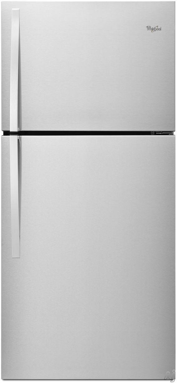 Whirlpool WRT549SZD 30 Inch Top-Freezer Refrigerator with 19.2 cu. ft. Capacity, 2 Adjustable Frameless Glass Shelves, Gallon Door Storage, 2 Crisper Drawers, 1 Flexi-Slide Drawer, LED Interior Lighting, ENERGY STAR and Optional Ice Maker Kit