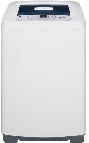 """click for Full Info on this GE WSLP1500HWW 23"""" Portable Top Load Washing Machine with 8 Wash Cycles  2.6 cu ft Capacity  680 RPM  Stainless Steel Basket  One Touch Load Sensing and ExtraRinse Option"""
