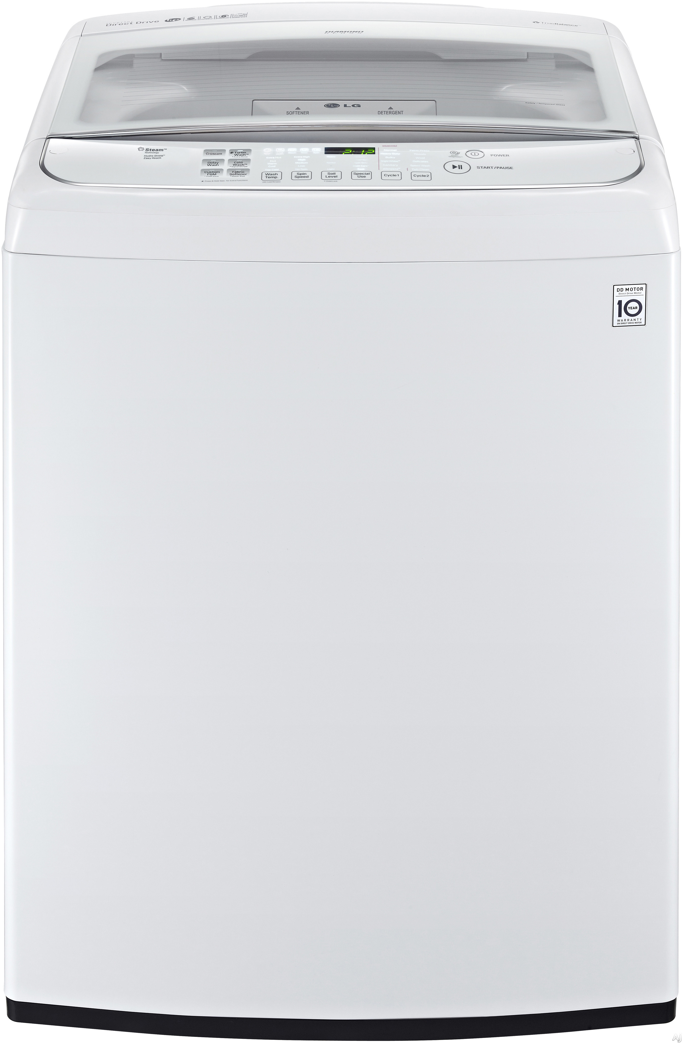 """White Top Load Laundry Pair with WT1801HWA 27"""""""" Washer and DLGY1702W 27"""""""" Gas"""" 391249"""