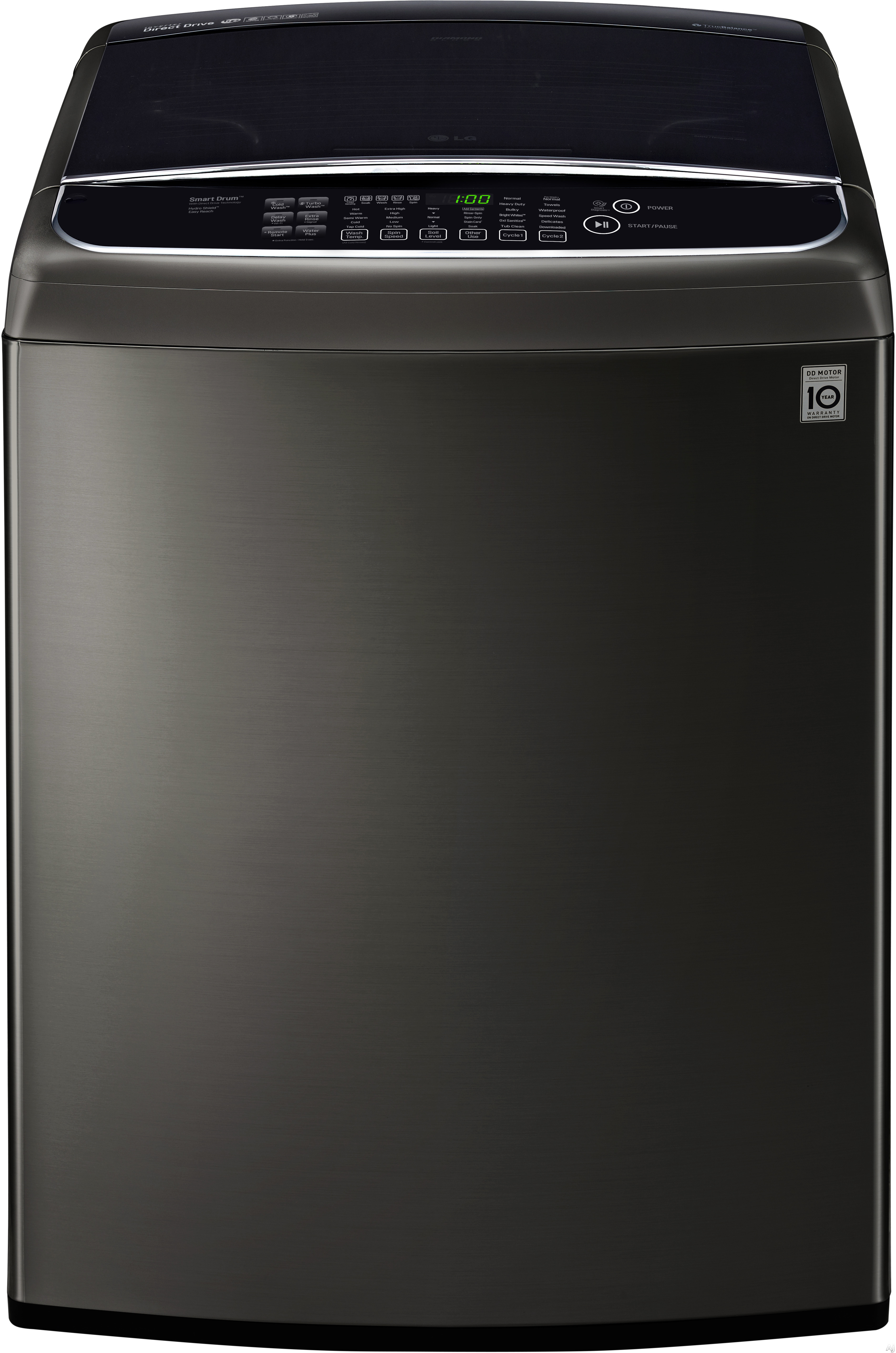 LG WT1901C 27 Inch Top Load Washer with TurboWash®, Slam Proof Lid, Wi-Fi Connectivity, LoadSense, 12 Wash Cycles, StainCare™ Option, Bright Whites™ Cycle, Speed Wash, 3 Tray Dispenser, ENERGY STAR® and 5.0 cu. ft. Ultra Large Capacity