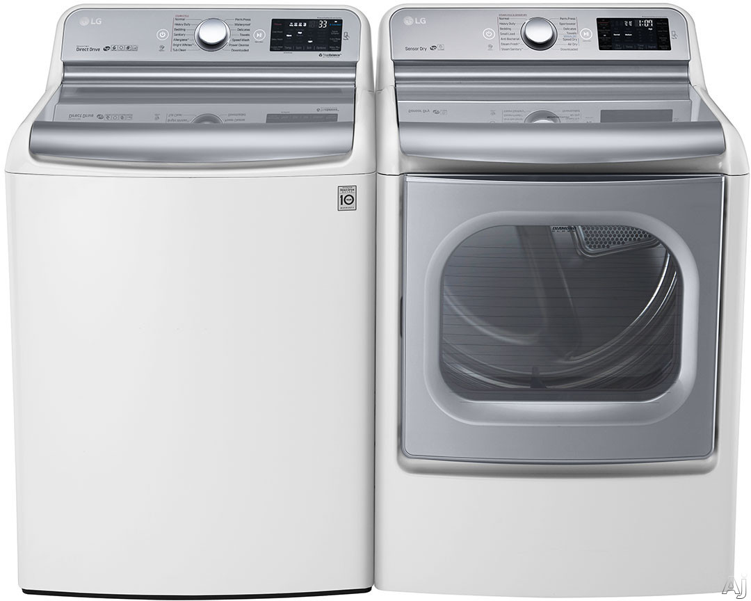 Largest Top Loading Washing Machine Lg Lg7700tl Lg 7700 Series Top Load Washer Dryer Pair
