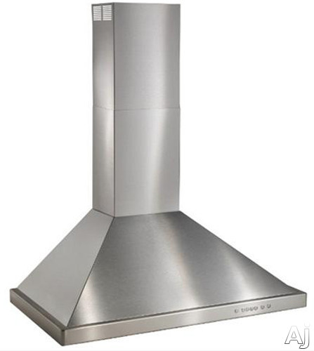 Image of Best WTT32I48SB Wall Mount Chimney Range Hood with Internal Blower, Halogen Lamps, 4-Speed Electronic Push Button Control, Heat Sentry and Stainless Steel Mesh Filters: 48 Inch Range Hood
