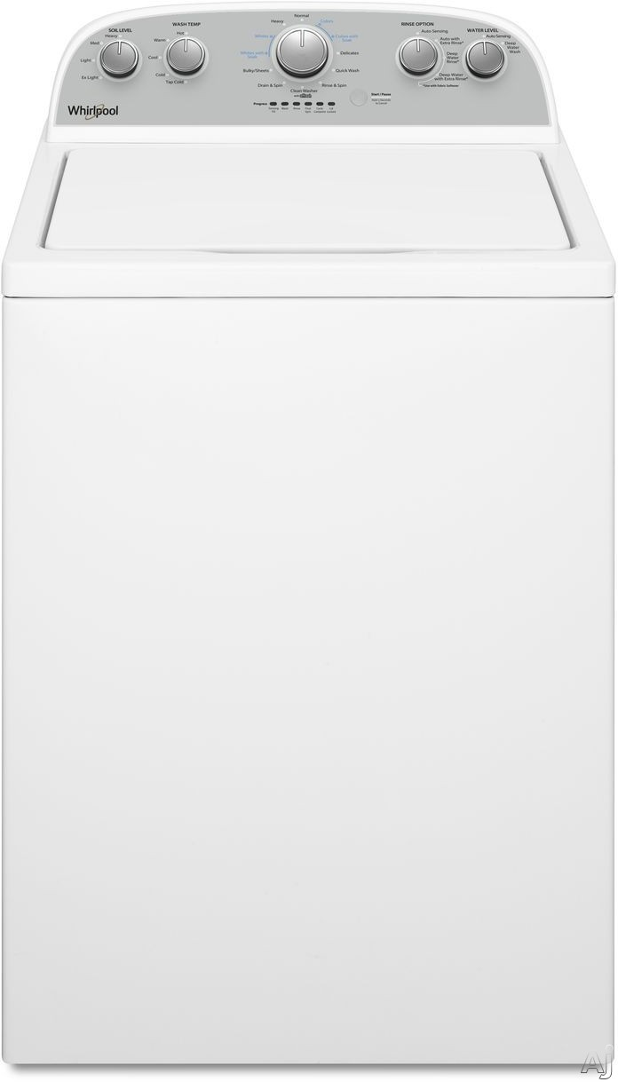 Whirlpool WTW4950HW 28 Inch Top Load Washer with Soaking Cycles, Water Level Selection, 12 Wash Cycles, Smooth Impeller, Stainless Steel Wash Basket, Late Lid Lock, Quick Wash Cycle, Extra Rinse Optio