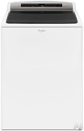 Image of Whirlpool WTW7500GW 28 Inch Top Load Washer with ColorLast™ Cycle, Active Bloom™, EasyView™, Built-In Water Faucet, Deep Water Wash Option, Low-Profile Impeller, Stainless Steel Drum, Quick Wash, Presoak Option, 850 RPM, ENERGY STAR® and 4.8 cu. ft