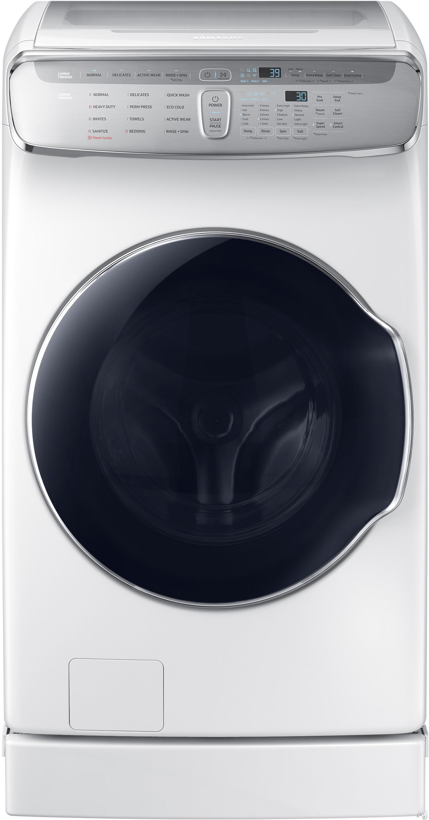 Samsung - FlexWash™ 6.0 Cu. Ft. Washer with Steam - White WV60M9900AW