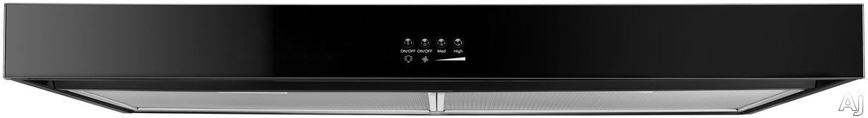 Whirlpool WVU37UC6FB 36 Inch Under Cabinet Range Hood with Recirculation Option, FIT System, Dishwasher-Safe Filters, 250 CFM and LED Task Lighting: Black WVU37UC6FB