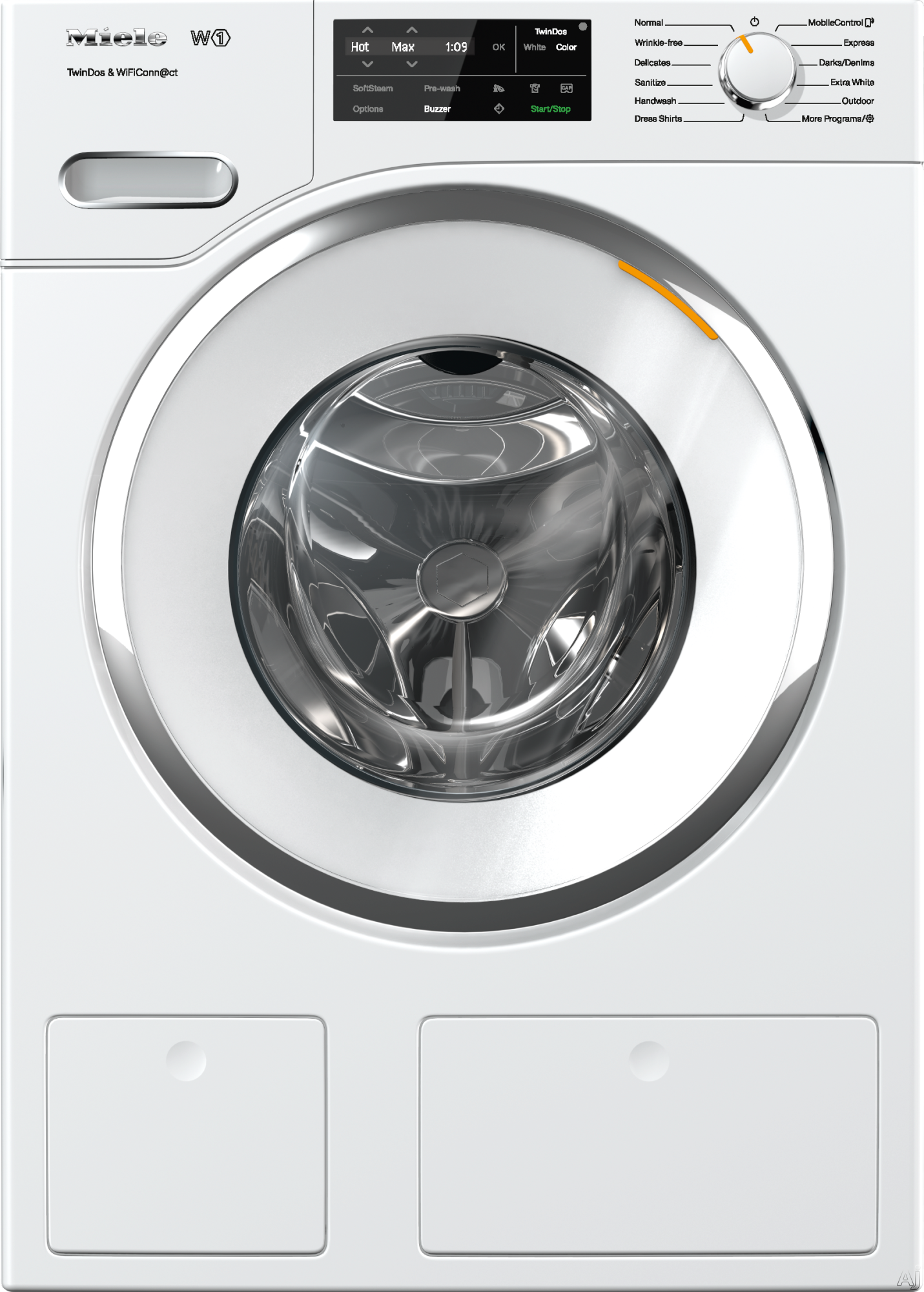 Miele WWH660WCS 24 Inch Front Load Washer with HoneyComb Drum, 2.26 Cu. Ft. Capacity, TwinDos, 13 Wash Programs, CapDosing, SoftStream, WiFiConn@ct, Eco Feedback Indicator, Energy Star, Delayed Start and Countdown Indicator WWH660WCS