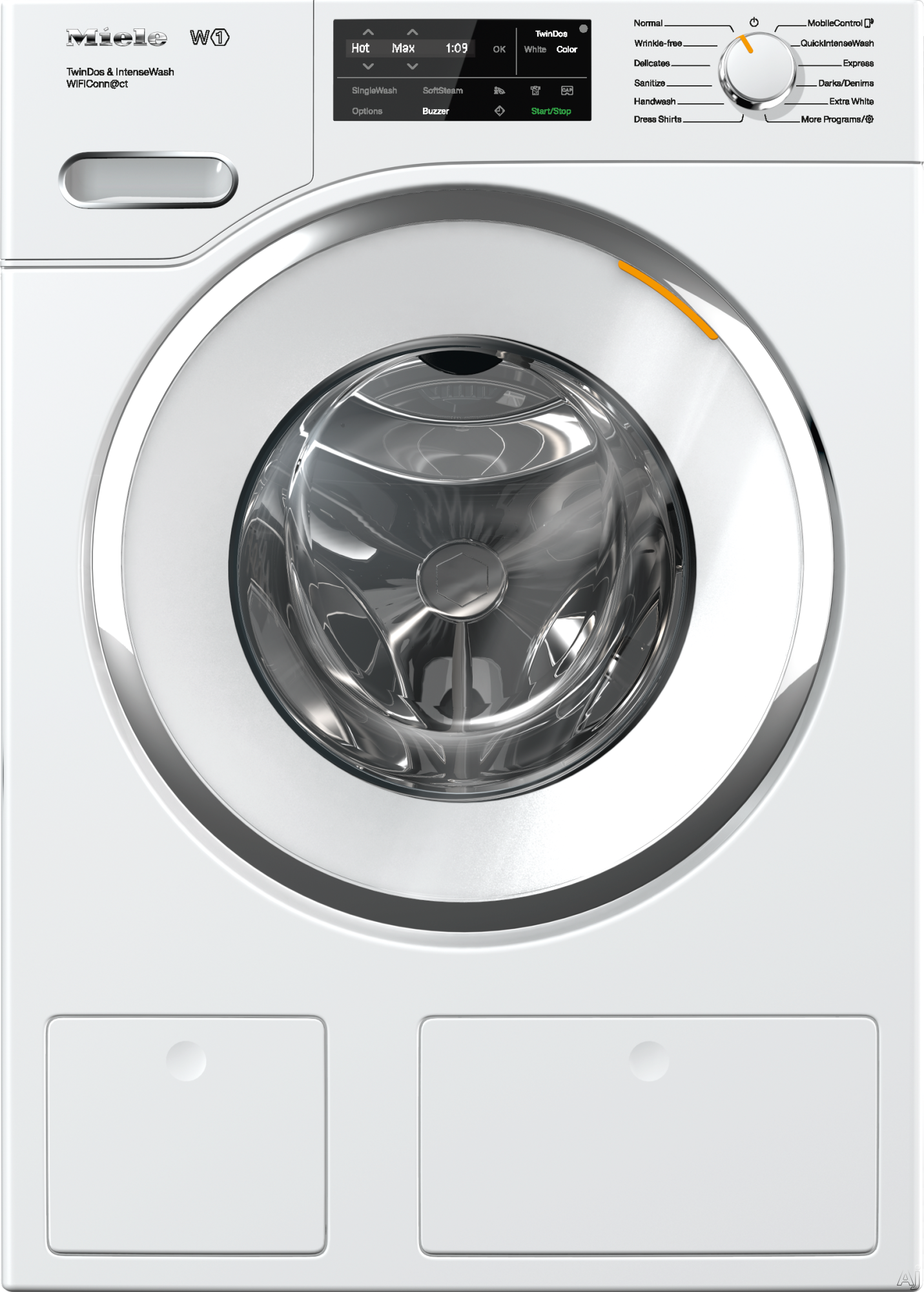 Miele WWH860WCS 24 Inch Front Load Washer with HoneyComb Drum, 2.26 Cu. Ft. Capacity, TwinDos, 13 Wash Programs, CapDosing, SoftStream, WiFiConn@ct, Eco Feedback Indicator, Energy Star, Delayed Start and Countdown Indicator WWH860WCS