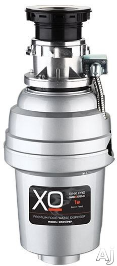 Image of XO XOD1HPBF 1 HP Batch Feed Waste Disposer with Magnet Motor, Antimicrobial Protection, Stainless Steel Turntable, Splash Guard, Precision Balanced, QuicKonnect Mount and 2,500 RFM