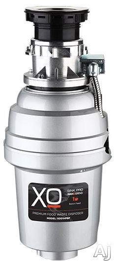 Image of XO XOD34HPBF 3/4 Batch Feed Waste Disposer with Magnet Motor, Antimicrobial Protection, Stainless Steel Turntable, Splash Guard, Precision Balanced, QuicKonnect Mount and 2,850 RFM