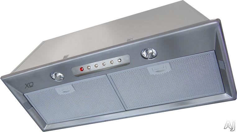 XO XOI21SMUA Cabinet Insert Range Hood with 395 CFM Internal Blower, 3 Speed Control, Halogen Lights, Make Up Air Compliant and Optional Recirculating: 21