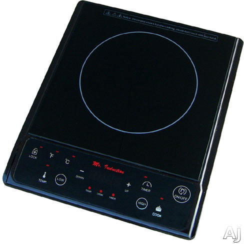 "Sunpentown SR964TB 12"" Countertop Induction Cooktop with 1,300 Watts Cooking Zone, 7 Power Settings, U.S. & Canada SR964TB"