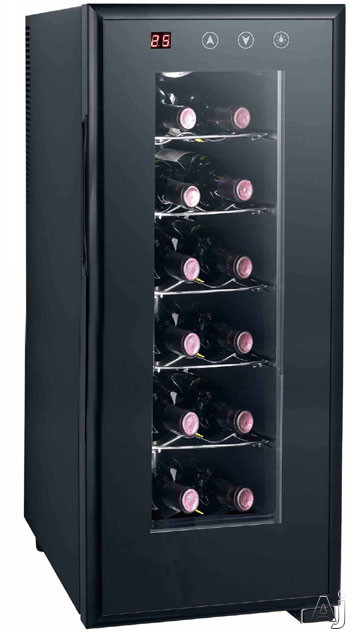 "Sunpentown WC1272H 10"" Freestanding Wine Cooler with 12-Bottle Capacity, Thermo-Electric Heating, U.S. & Canada WC1272H"