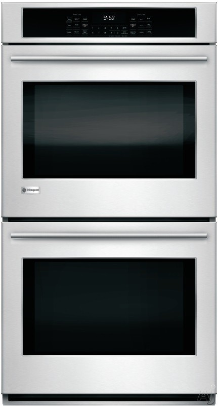 Image of Monogram ZEK7500SHSS 27 Inch Double Electric Wall Oven with WiFi Connect, 8.6 cu. ft. True European Convection Oven, Self-Cleaning System, True Hidden Bake Element, Glass Touch Control Panel and Brillion Communication Technology