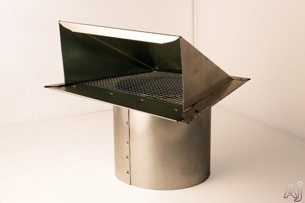 Zephyr AK00032 8 Inch Galvanized Steel Round Inlet Wall Cap with Bird Screen