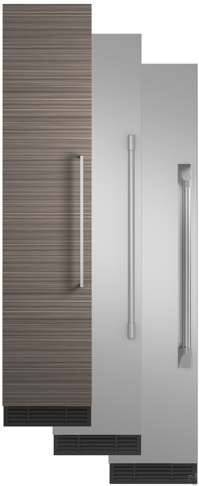 Image of Monogram ZIF180NPKII 18 Inch Panel Ready Freezer Column with Wi-Fi Connectivity, Ice Maker, Water Filtration, Adjustable Spill-Resistant Glass Shelving, Adjustable Door Bins, 3 Wire Baskets, Retrofit Capable, Ramp-Up LED Lighting, Sabbath Mode and 8.4 cu.