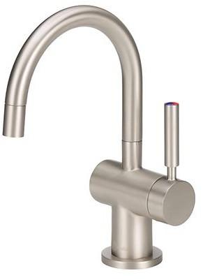 Home Sink Hot Water Dispenser Tank System Single Handle Instant Satin Nickel