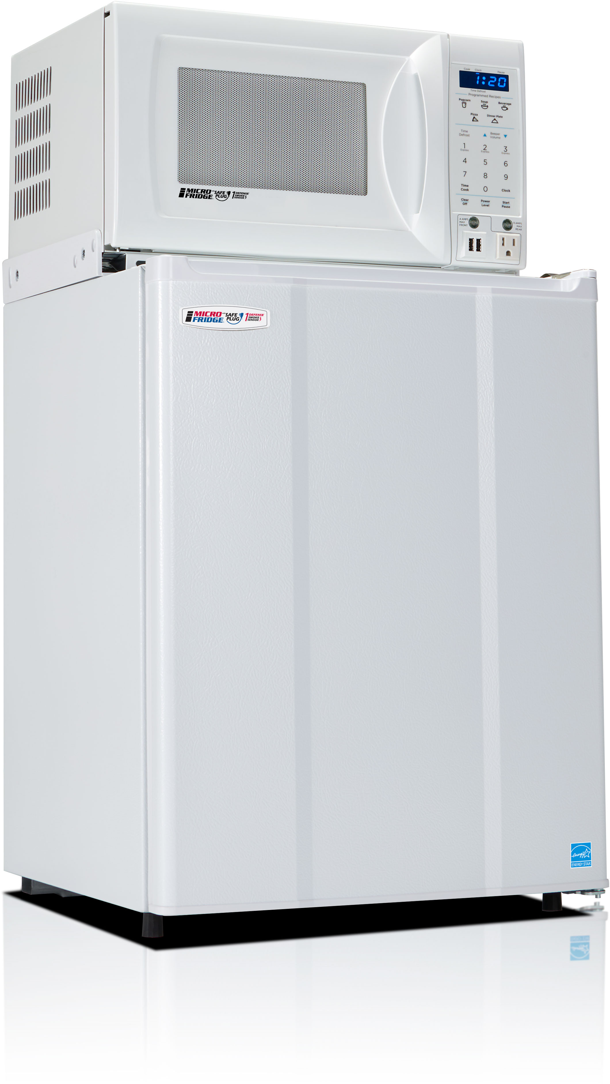 MicroFridge 19 Inch 2.28 Cu. Ft. Counter Depth Compact All-Refrigerator White 23MF47D1W