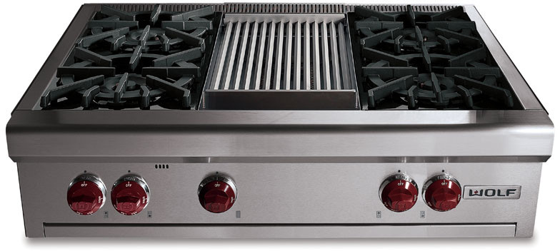 Wolf Rt362f 36 Inch Pro Style Gas Rangetop With 2 Dual Br