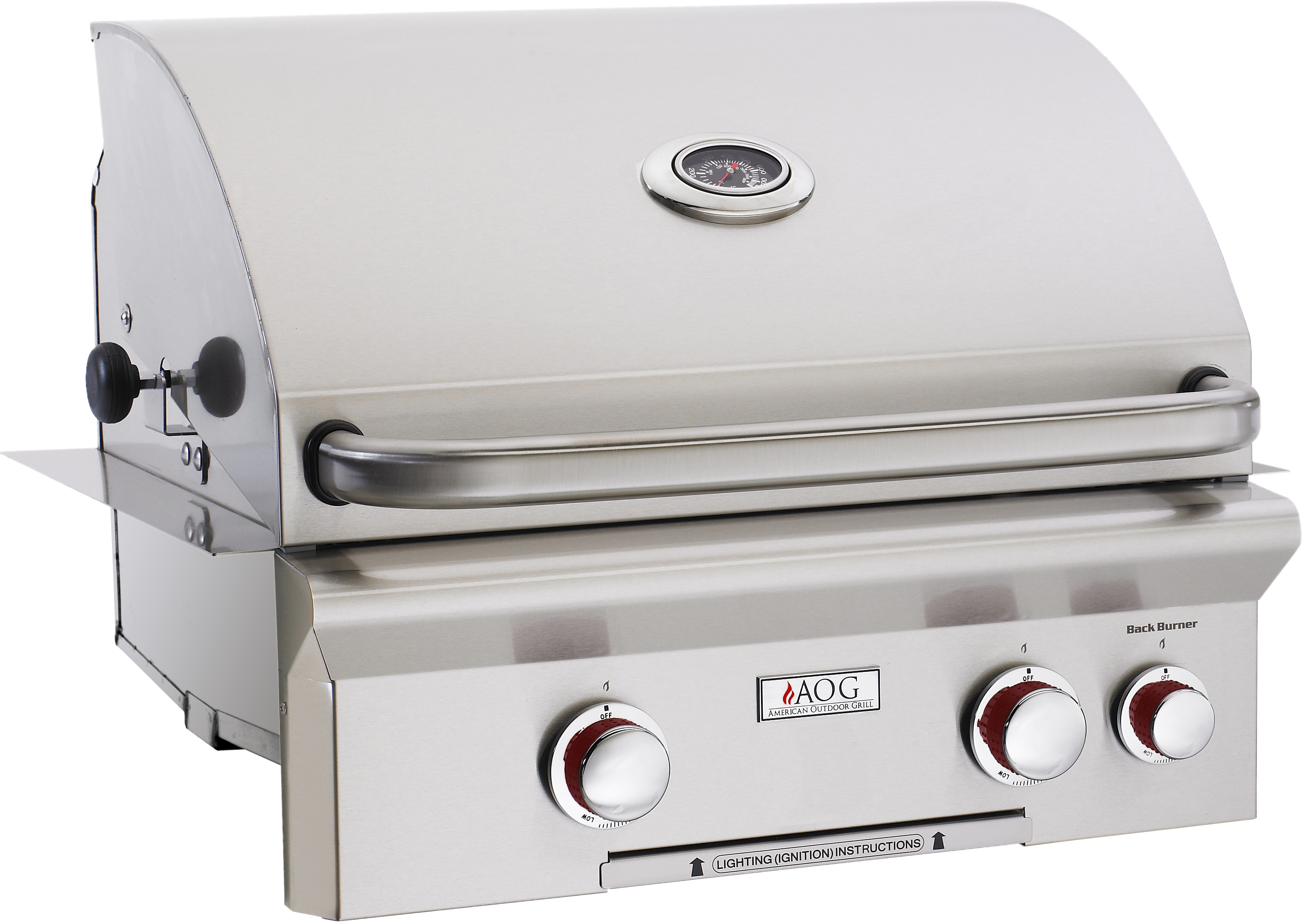 American Outdoor Grill 24nbt00sp 24 Inch Built In Gas With 432 Sq Cooking Surface 2 16 000 Btu Primary Burners Og Thermometer And Stainless