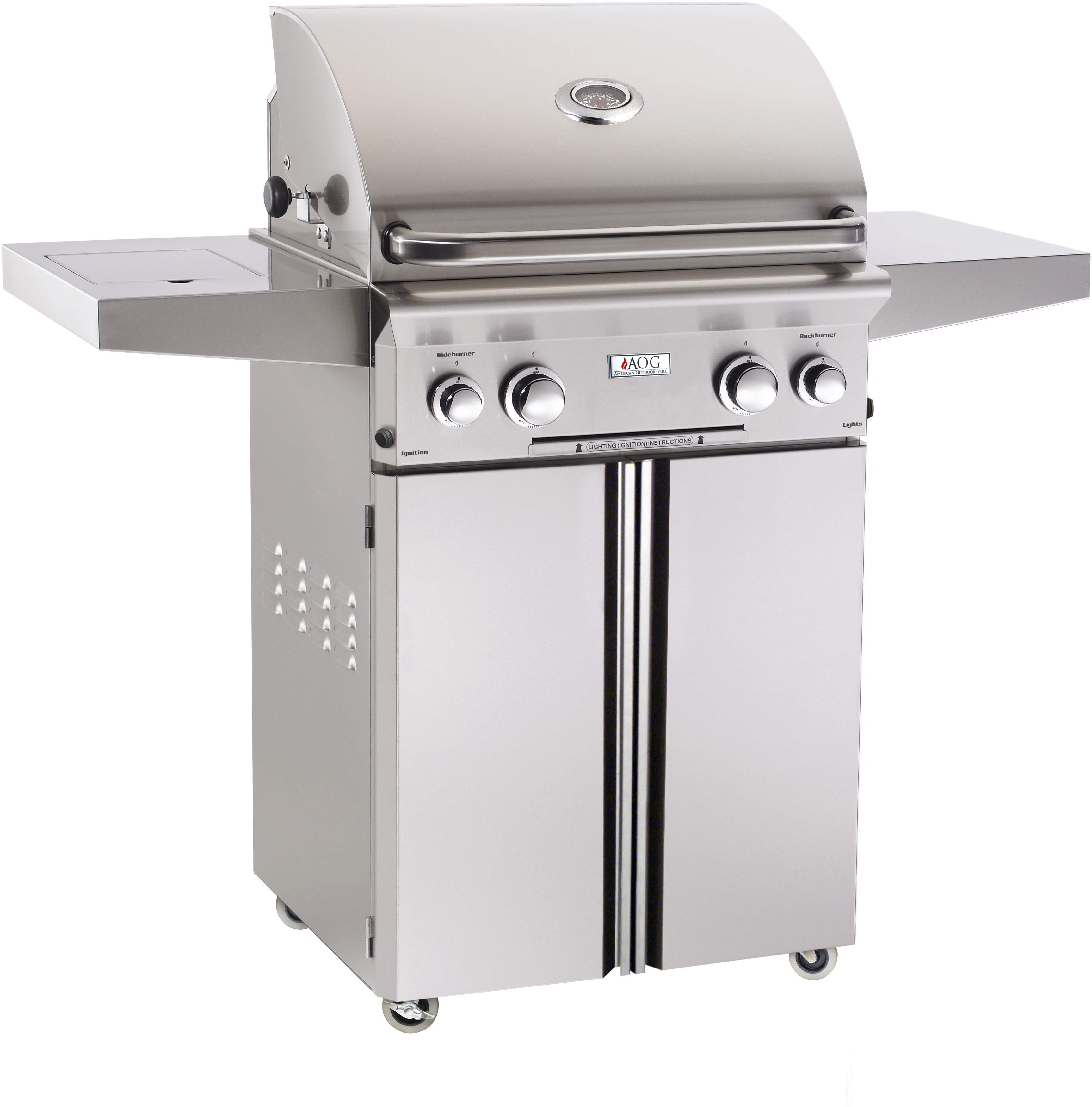 American Outdoor Grill sseries Freestanding Barbecue Grill Stainless Steel 24PCL00SP