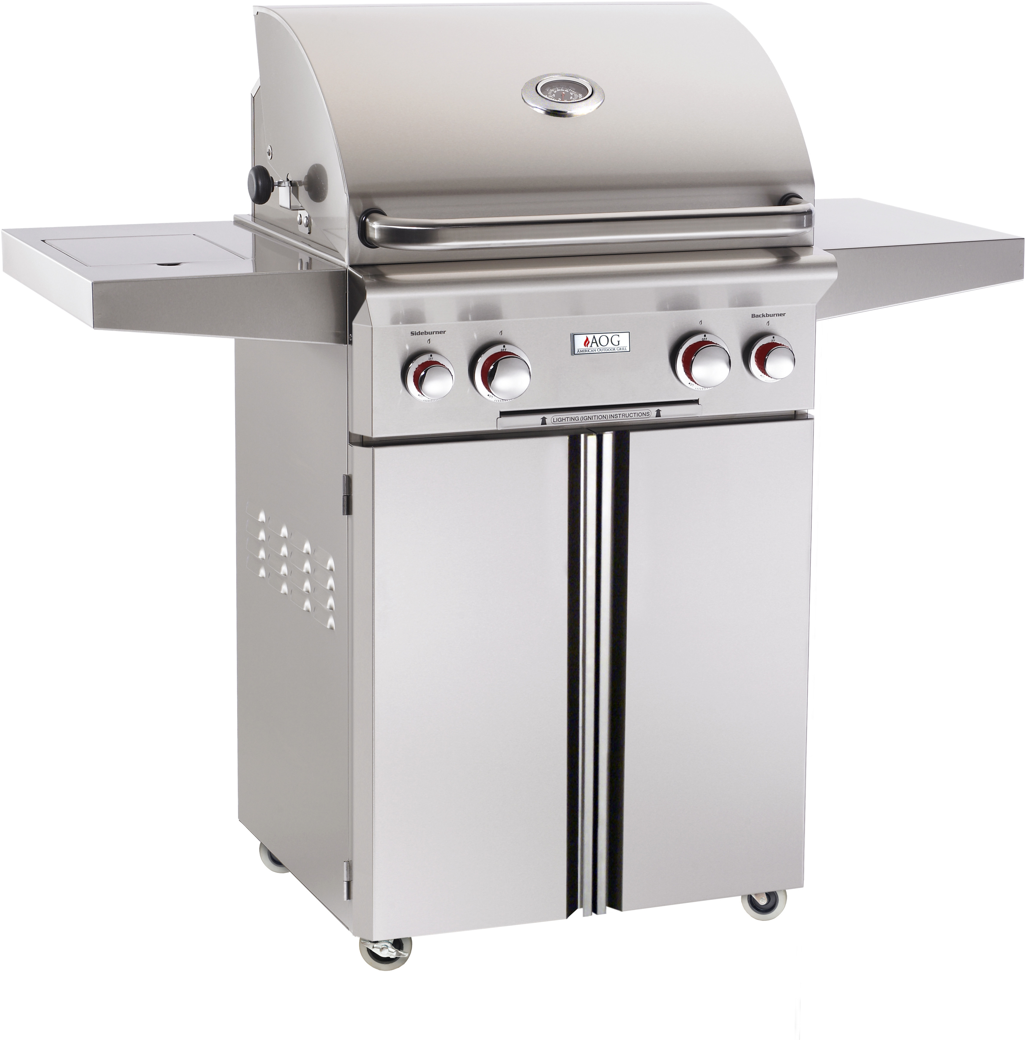 American Outdoor Grill tseries Freestanding Barbecue Grill Stainless Steel 24PCT00SP