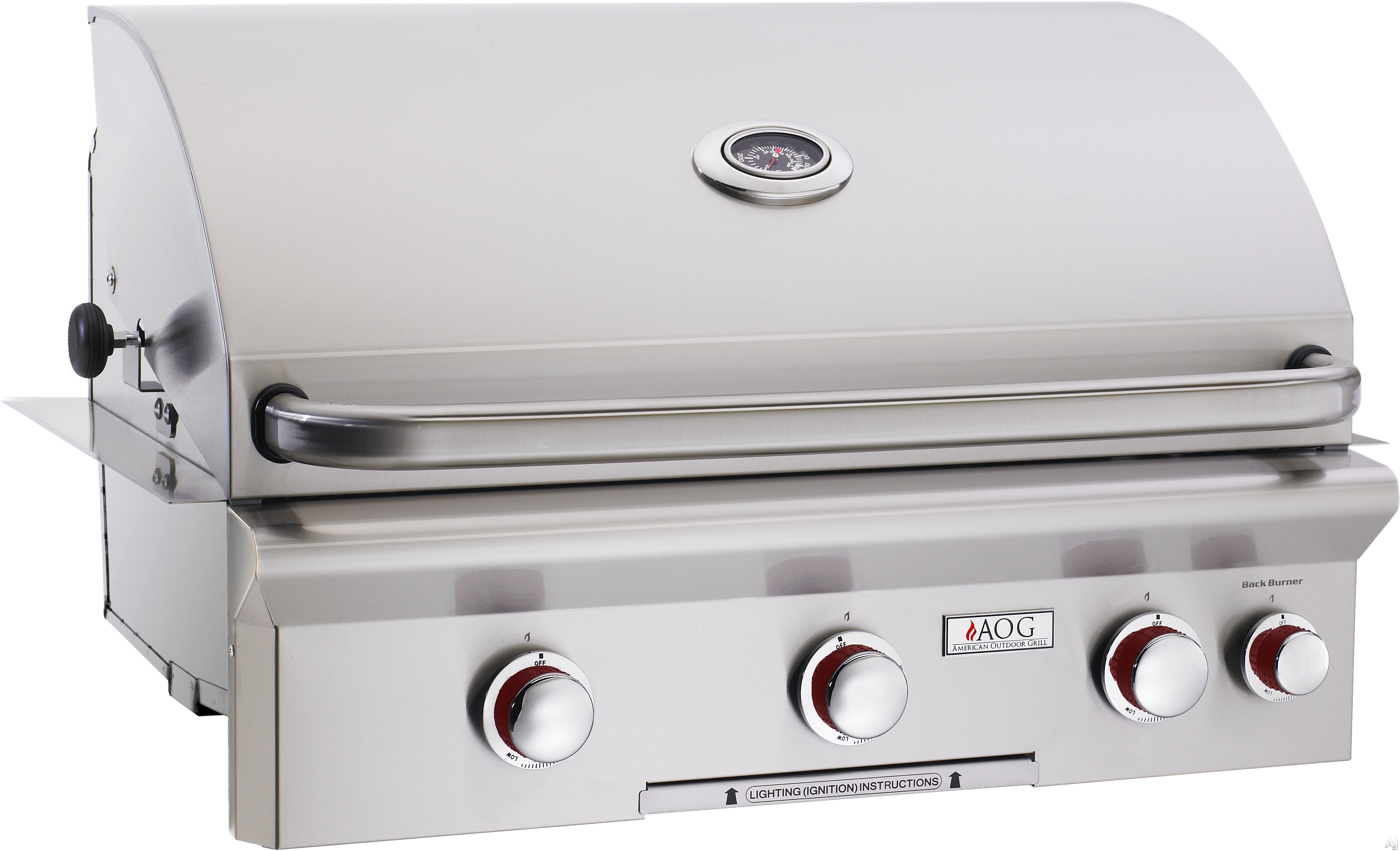American Outdoor Grill 30nbt00sp 30 Inch Built In Gas With 540 Sq Cooking Surface 3 15 000 Btu Primary Burners Og Thermometer And Stainless
