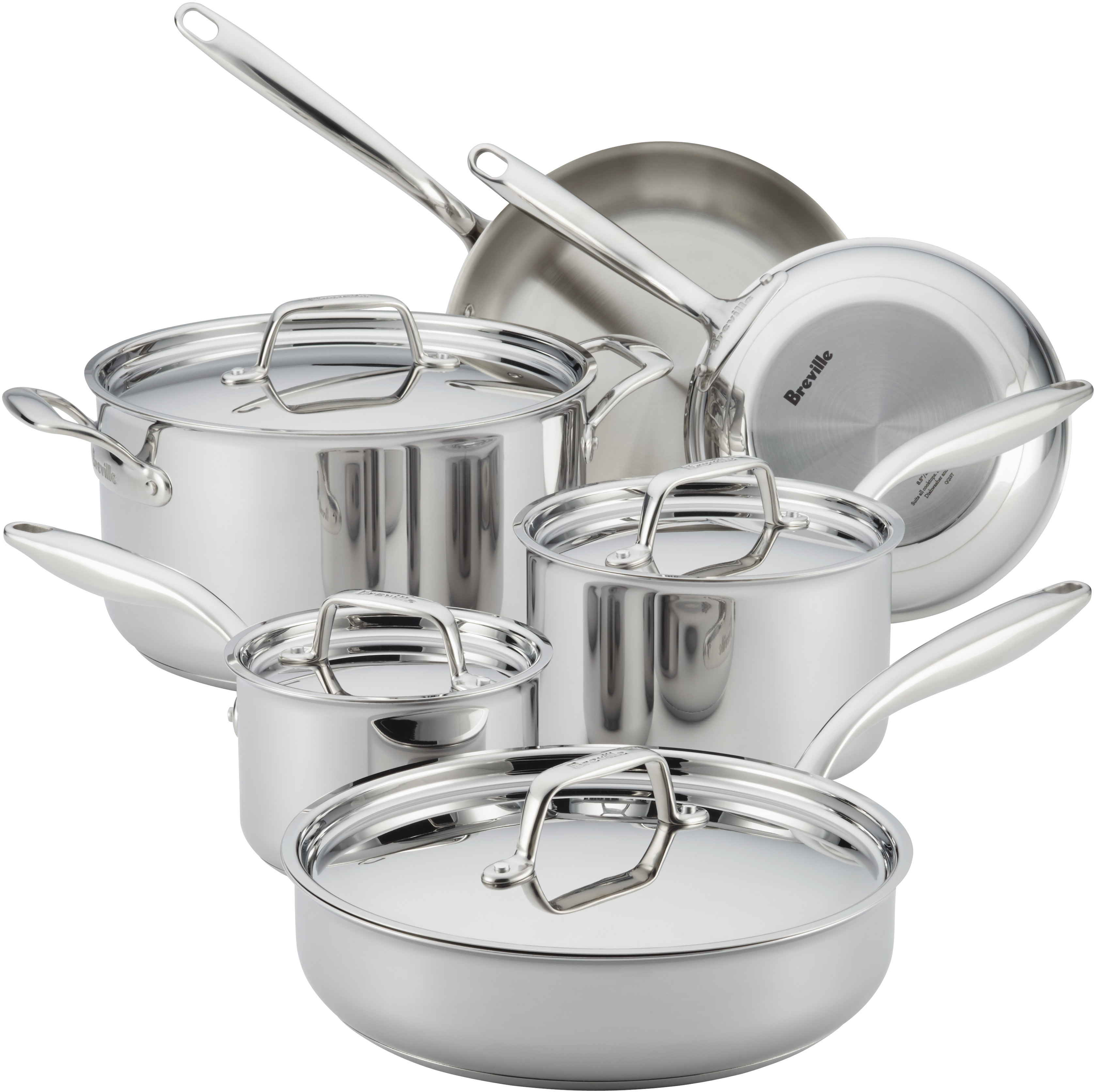 Clad Stainless Steel Cookware Set With