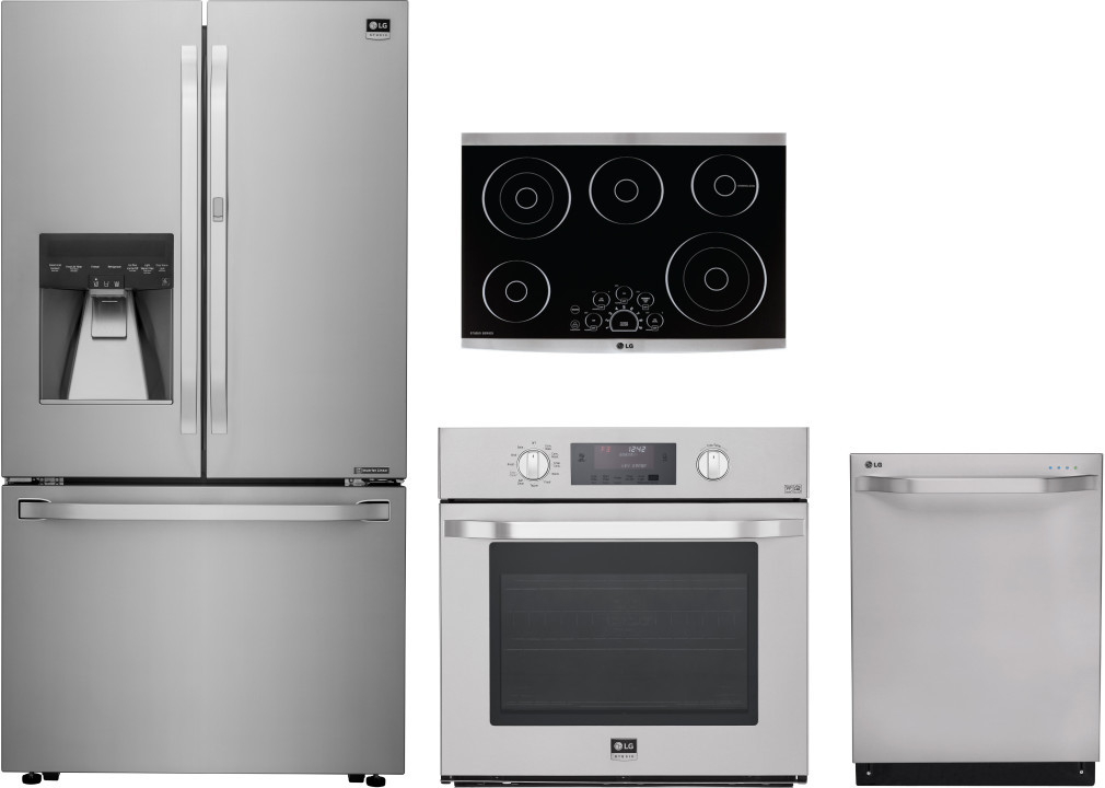 lg lgrectwodw3 4 piece kitchen appliances package with