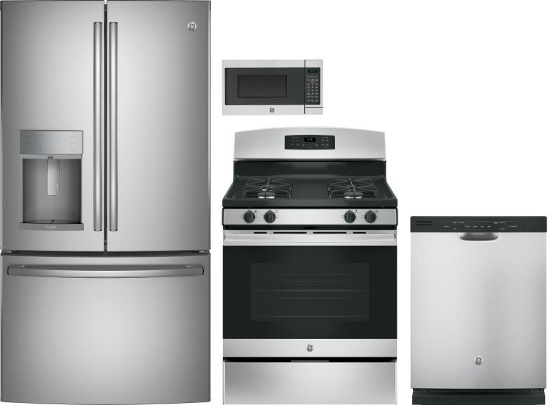 Ge Gereradwmw2742 4 Piece Kitchen Appliances Package With