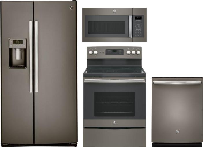 Ge Gereradwmw7337 4 Piece Kitchen Appliances Package With