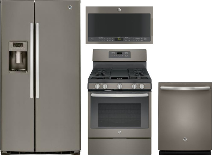 Ge Gereradwmw8065 4 Piece Kitchen Appliances Package With