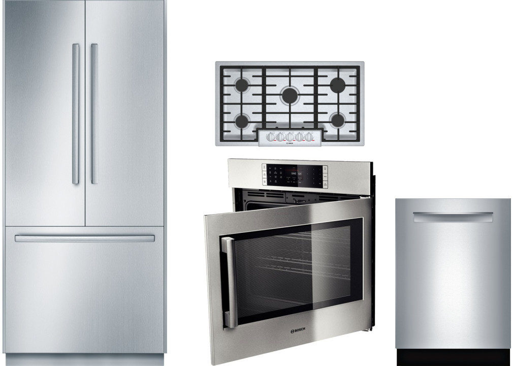 Bosch Borectwodw58 4 Piece Kitchen Appliances Package With