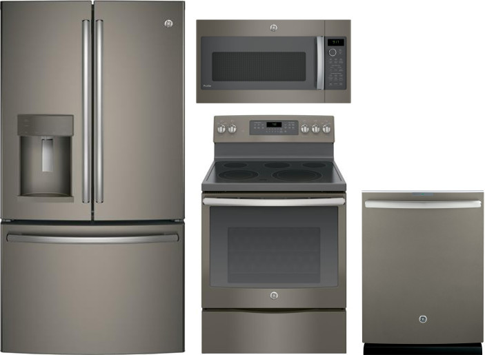 Ge Gereradwmw12550 4 Piece Kitchen Appliances Package With French