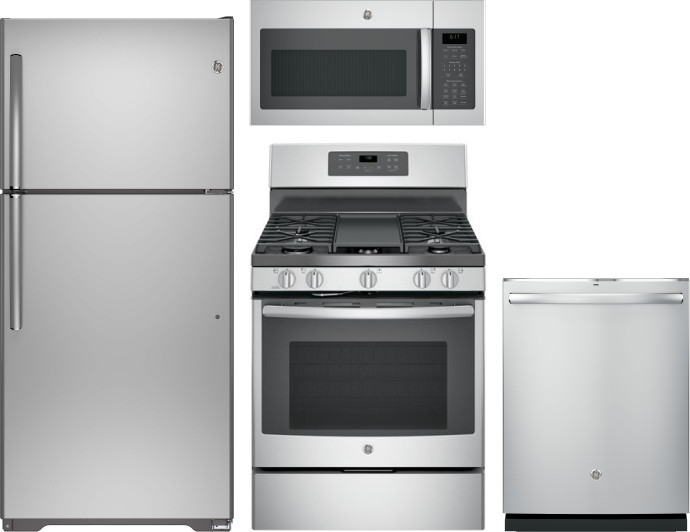 Ge Gereradwmw12640 4 Piece Kitchen Appliances Package With