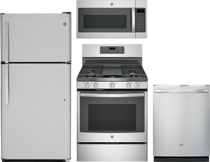 Ge Gereradwmw12764 4 Piece Kitchen Appliances Package With